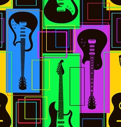 Seamless pattern of guitars vector
