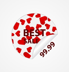 Paper stickers with hearts design elements vector