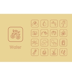 Set of water simple icons vector image