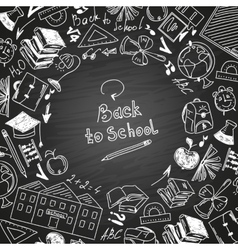Back to school freehand drawing school subjects vector