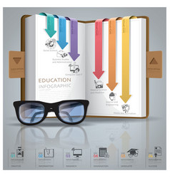 Education and graduation infographic with line vector