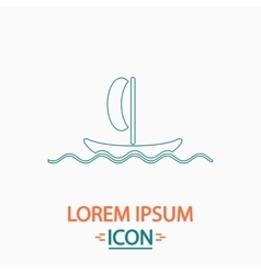 Yacht computer symbol vector