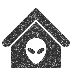 Alien Home Grainy Texture Icon vector image vector image