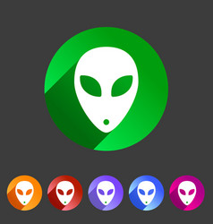 alien icon icon flat web sign symbol logo label vector image vector image