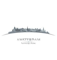 Amsterdam netherlands city skyline silhouette vector