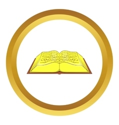 Ancient book icon vector image vector image