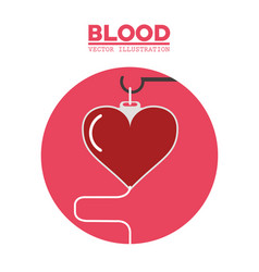 Blood heart hanging symbol vector
