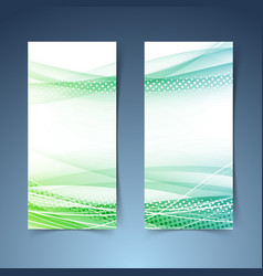 bright green vertical web banner collection vector image vector image