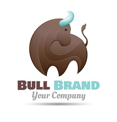 bull logo design Template for your business vector image vector image