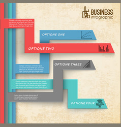 business infographic modern background vector image