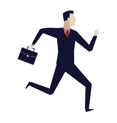 businessman running with his briefcase vector image