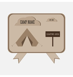 Camping adventure badge graphic design logo emblem vector image vector image