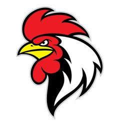 chicken head mascot vector image vector image