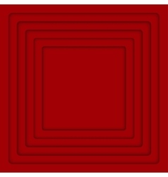 Concentric red 6 square background vector