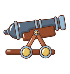 Enemy cannon icon cartoon style vector