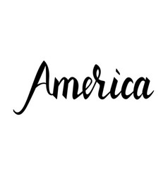 fashionable inscription brush america vector image vector image