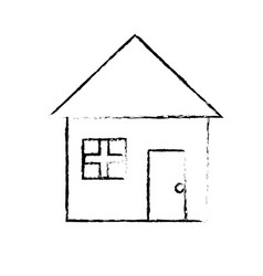 Figure nice house with architecture design icon vector