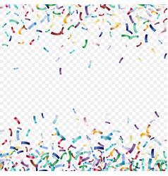 flying christmas confetti anniversary celebration vector image