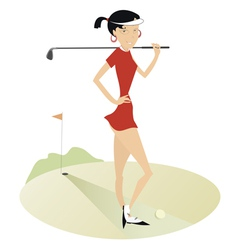 Good day for playing golf 5 vector image vector image