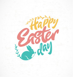 Happy easter day greeting card design element vector