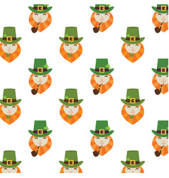 Holiday seamless pattern with leprechaun hat and vector