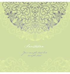 Invitation card 2 vector image vector image