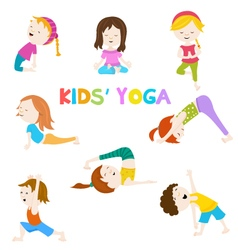 Kids Yoga vector image