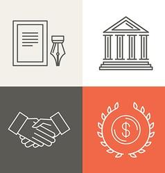 line bankingg icons and logos vector image