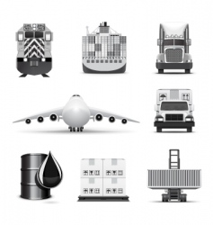 Logistic icons | bw series vector