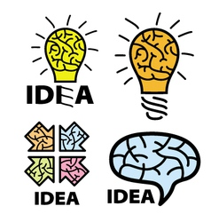 Logo idea with the image of the brain vector