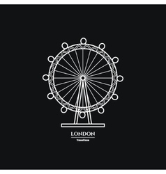 London eye icon vector