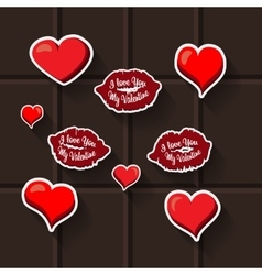 Love lips heart sticker vector