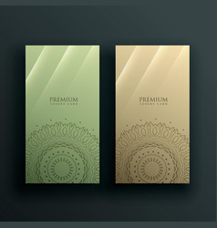 Mandala card banner decoration design vector