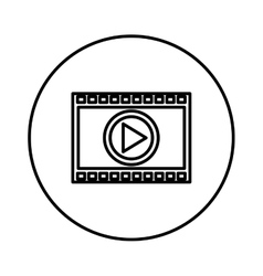 Media player symbol isolated icon vector