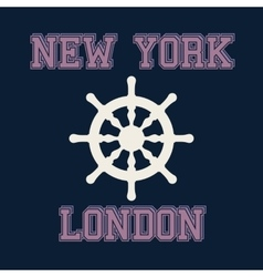 New york london typography t-shirt graphics vector