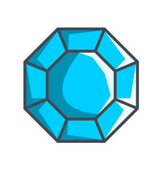 Octagonal diamond in a flat style vector