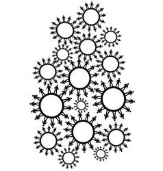 people gears background vector image vector image