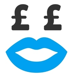 Pound prostitution smiley flat icon symbol vector