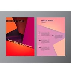 red flyer brochure modern design vector image