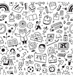 school education - seamless background vector image vector image