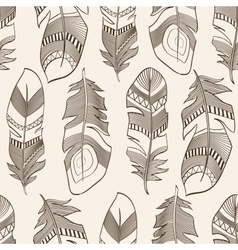 seamless ethnic Indian feathers plumage pattern vector image vector image