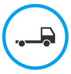 Truck chassis rounded icon vector