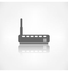 Wi fi router web icon vector image