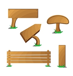 Wood boards set vector image vector image