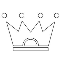 Crown pictogram icon vector