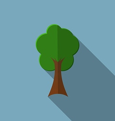 Flat design modern of tree icon with long shadow vector