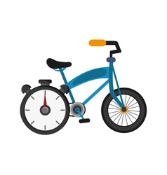 Bike and chronometer icon vector