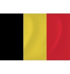 Belgium waving flag vector