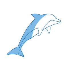 Dolphin fish marine animal wildlife vector