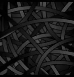 Creative background of black curved stripes vector